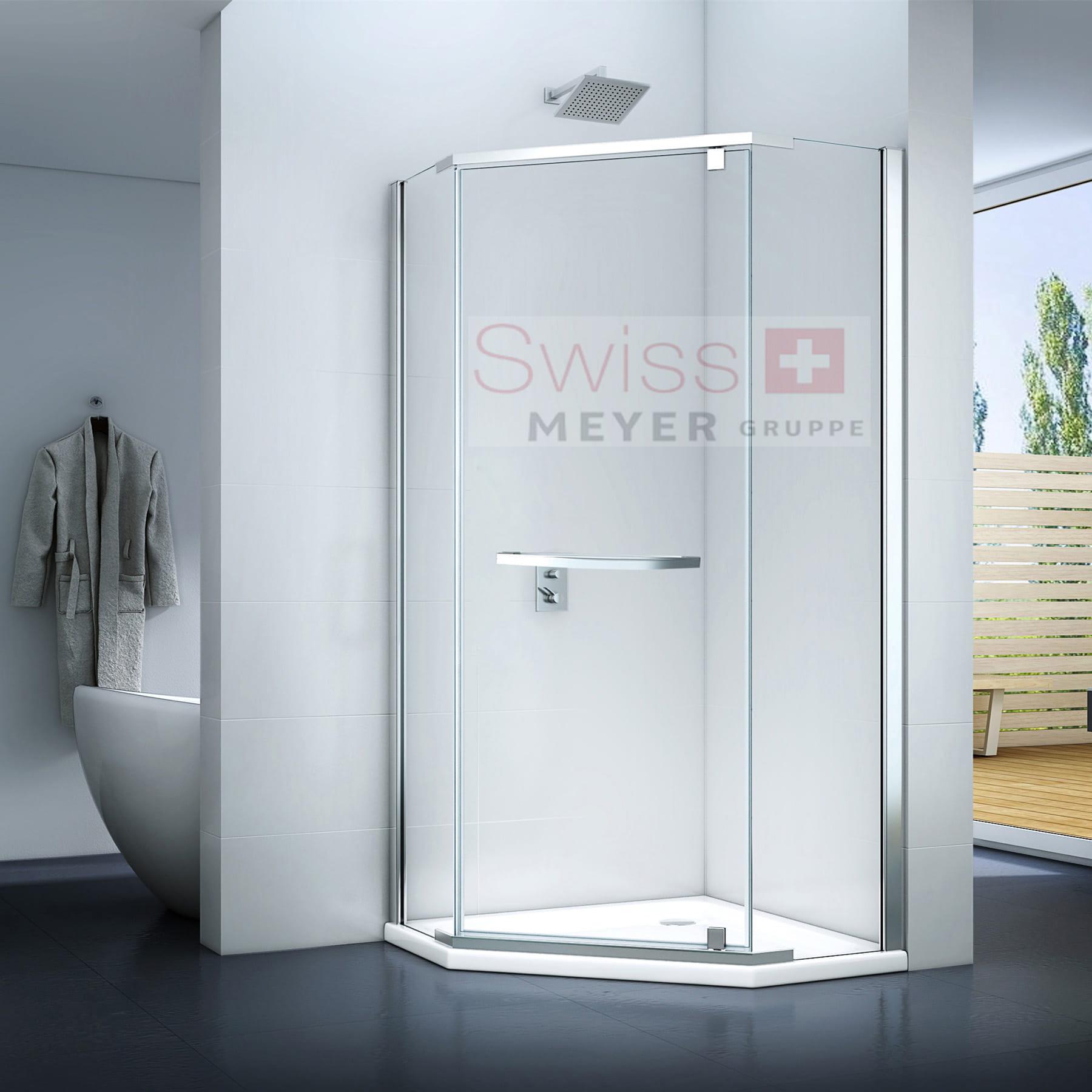 KABINA prysznicowa trzyścienna UCHYLNA MS501 - SWISS MEYER