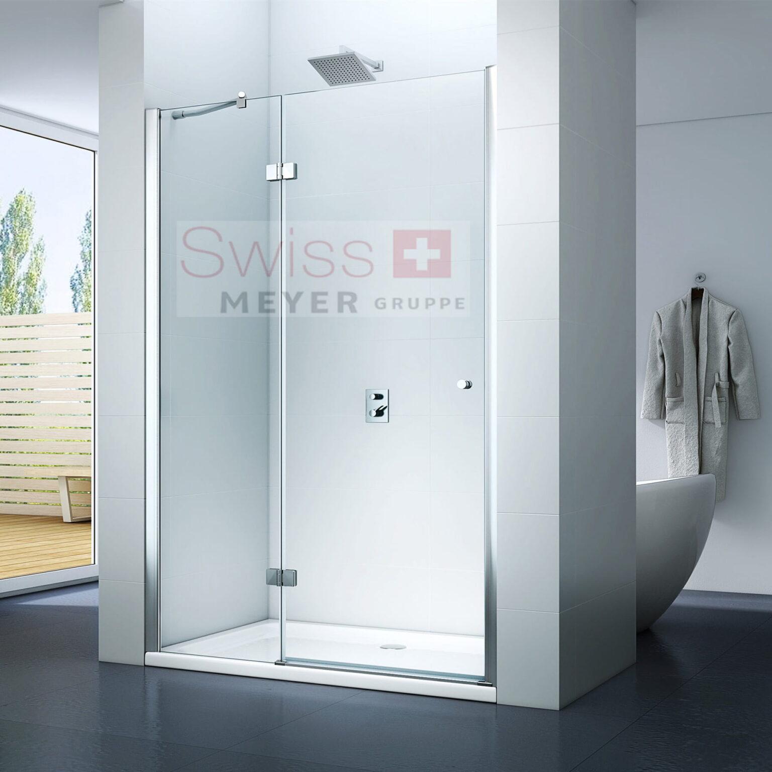 DRZWI prysznicowe UCHYLNE MS4000D - SWISS MEYER PREMIUM