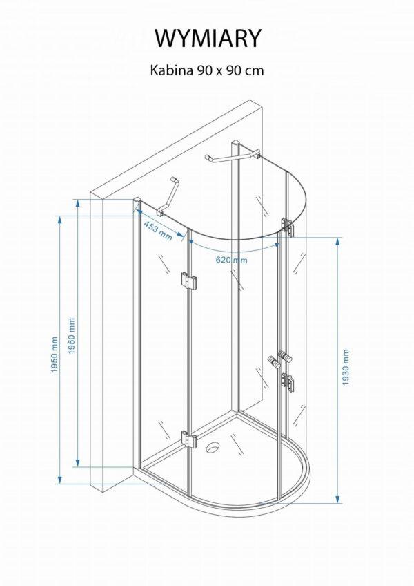 KABINA prysznicowa UCHYLNA MS500 - SWISS MEYER